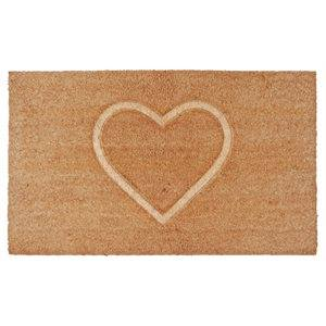 Carpette fibre de coco Coeur