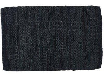 Napperons et tapis de cuir noir